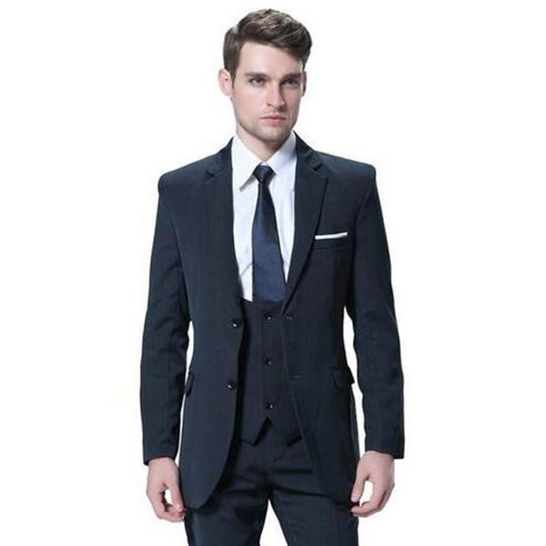 latest coat pant designs Navy Bule Tweed Men suit 3 pieces Custom Made Men Suit Tailor Made Suit Groom 2018