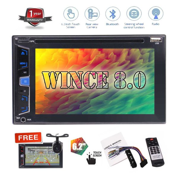"""6.2"""" No GPS Navigation Car DVD Player Double 2 Din Automotive Stereo System Bluetooth in Dash Auto Radio Video Audio Deck Headunit"""