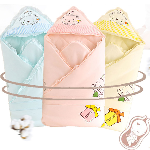 top popular Baby Bedding Sleep Blanket With Hat Newborn Cotton Warm Comfort Baby Sleeping Bag Envelop For Newborn Winter Blanket 2021