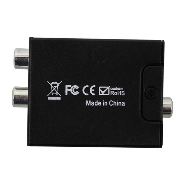 high quality Digital to Analog Audio Converter Adapter Digital Adaptador Optic Coaxial RCA Toslink Signal to Analog Audio Converter RCA