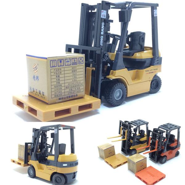 Nueva escala 1:60 de aleación modelo de coche de aleación de vehículos de ingeniería carretilla elevadora elevadora En caja regalo simulación carretilla elevadora niños juguetes envío gratis