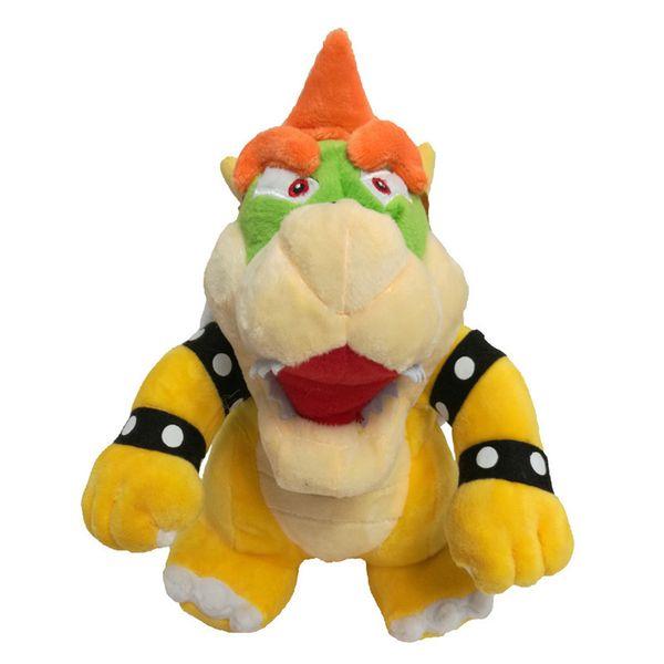 top popular 25cm Super Mario Bone Kubah Dragon Koopa Bowser Plush Toy Children Cartoon Soft Plush Stuffed Dolls Yellow Bowser 2019