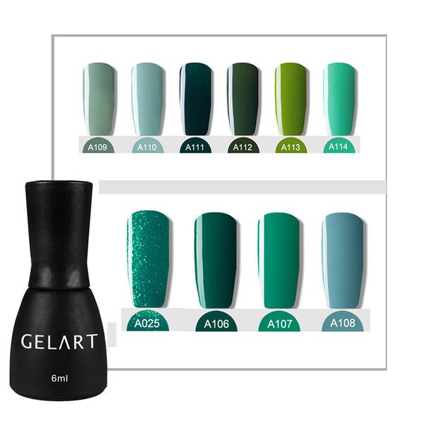 Оптовая профессиональный зеленый цвет серия УФ LED ногтей гель лак для ногтей макияж лак