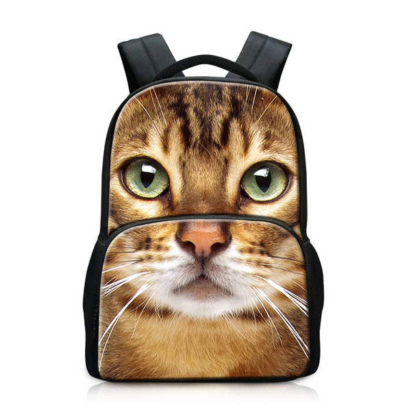 Funky Cat Patterns on Backpacks Multi-function Laptop Bags School Satchel for Teenagers Coolest Book Bags for Men Beautiful Rucksack for Boy