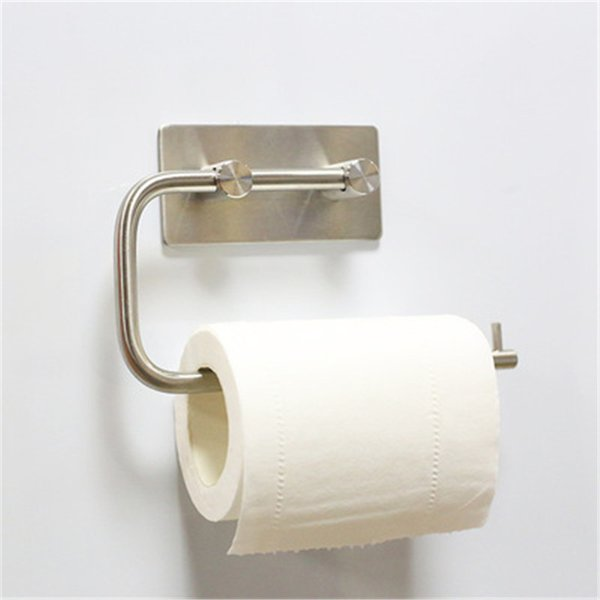 Sticky Toliet Paper Holders Seamless Tissue Roll Hanger Wall Mount for Bathroom and Kitchen 304 Stainless Steel Hot Sale