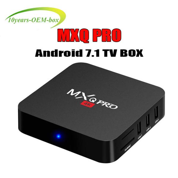 MXQ Pro 4K Android TV Box Amlgoic S905W RK3229 Quad Core 1GB 8GB Android 7.1 wifi 3D 4K HD Google Streaming Media Player