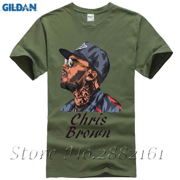 Chris Brown White T Shirt Sublimation Print Crew Neck Sweatshirt Plus Size Tops Tees Men's T-shirt Casual Shirt Xxxl