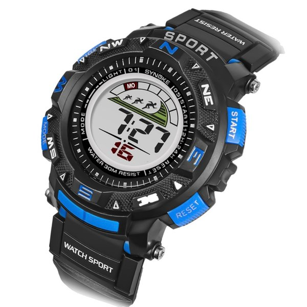 Waterproof Men Sports Watches Multi-function Digital Electronics Watches Wristwatches