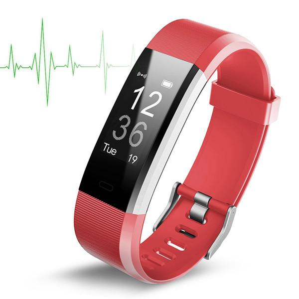 2018 original farbe lcd bildschirm id115 plus smart armband fitness tracker schrittzähler uhrenarmband herzfrequenz blutdruckmessgerät dhl frei