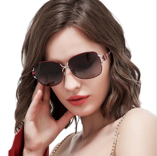2018 New lady polarizing sunglasses, jade nose pads, classic Ladies Sunglasses, driving glasses, Fishing Sunglasses.