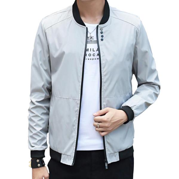 Großhandel Mode Männlichen Jacke Mantel Männer 2017 Frühling Business Casual Kleidung Sommer Dünne Windjacke Herren Schwarz Bomber Jacken Von Vineger,