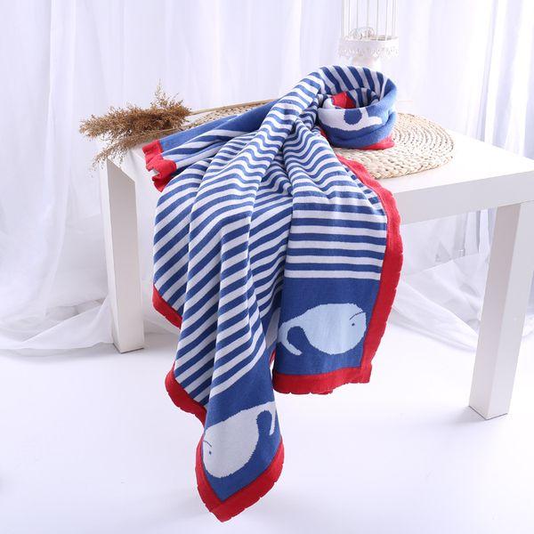 100% Cotton Baby Blanket Knitted Newborn Swaddle Wrap Blanket Super Soft Toddler Infant Bedding Quilt For Bed Sofa Basket plaids