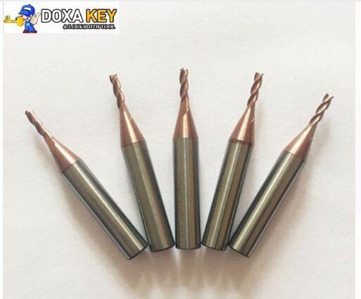 100% Original 5pcs/lot 2.0mm carbide end milling cutter for MIRACLE A5/A7/A9/ SEC-E9 key cutting duplicated machines