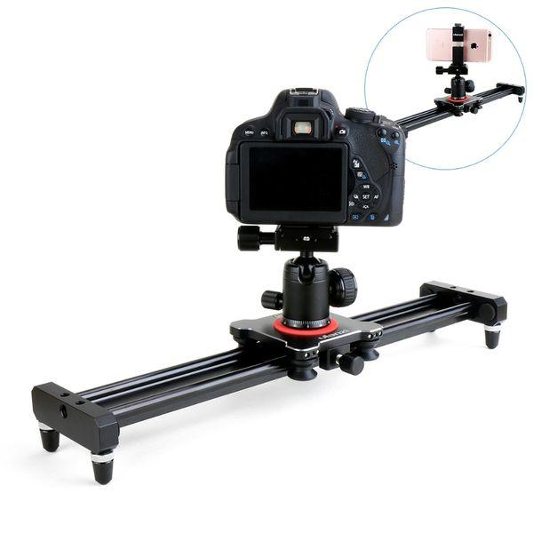 wholesale 40cm/50cm DSLR Camera Video Slider Track Dolly Rail Stabilizer System for Canon Pentax Sony Camcorder SLR Movie Film