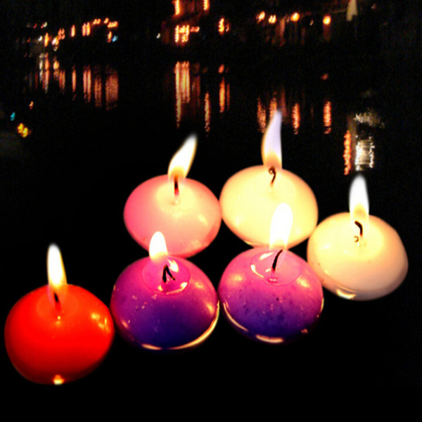 10PCs/ Set Small Batch Unscented Multicolor Floating Candles Romantic Wedding Birthday Party Home Decoration Creative Gift Vela