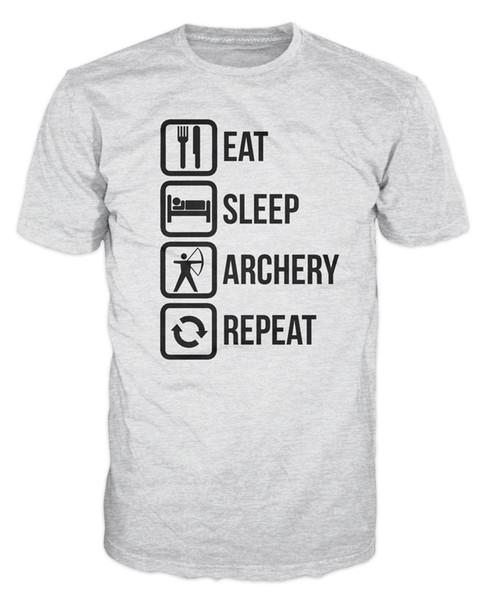 Eat Sleep Archery Repeat Funny Bow Arrows Camiseta Envío gratis camiseta casual