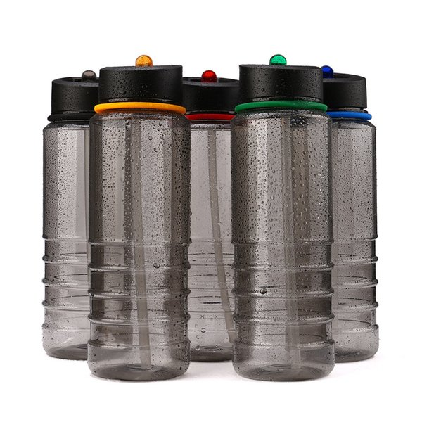 Hot Sale Flip Straw Water Bottle Sports Hydration Drinks Bottle Hiking Cycling Camping Drinking Tools 800ML Black