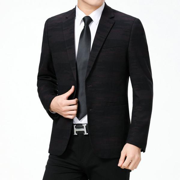 Jacken Weinrot Slim Männer Anzug Großhandel Elegantes Kleid Outfit Mann Mens Blazer Anzüge Männlich Business Print Fit Casual Büro Von D9EH2WI