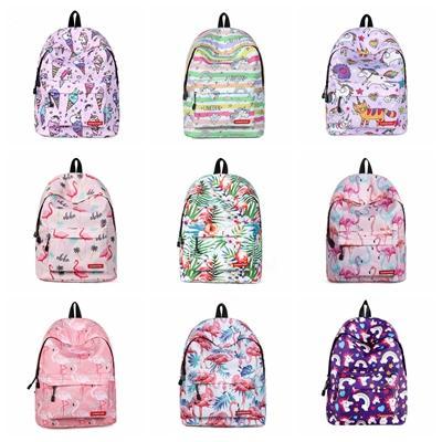 Women Backpack Unicorn Cute School Printing Backpack Bookbag School Bags For Teenage Girls Mochila Travel Softback Free shipping