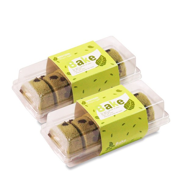 Baking Cake Box Plastic Pastry Box Swiss Roll Package Bread Sushi Boxes Cookie Container