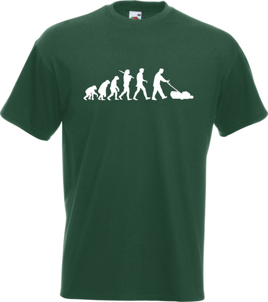 Çim Biçme Bahçıvan T-Shirt Komik ücretsiz kargo Unisex Casual Evrimi
