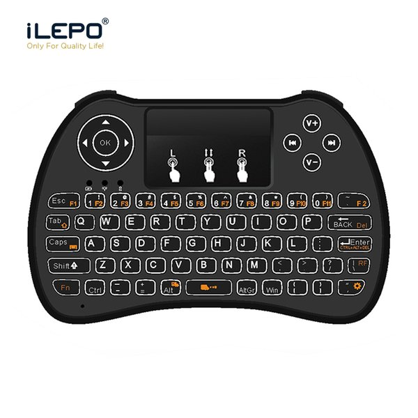 Wireless Keyboard H9 2.4G with Backlit 70 keys Mini handheld touchpad Air Mouse Remote Control For TV BOX / Smart TV / Laptop / Tablet