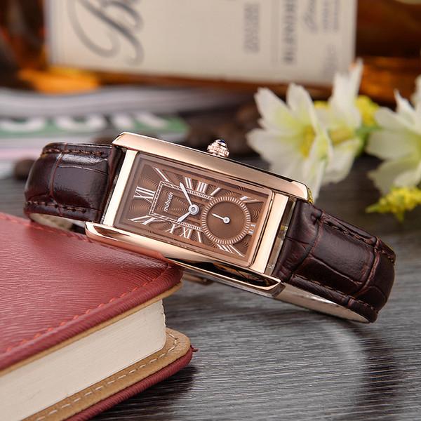 Muhsein fashioncasual correa rectangular reloj de cuarzo deportes de moda negocio informal impermeable mujeres WatchY1883101