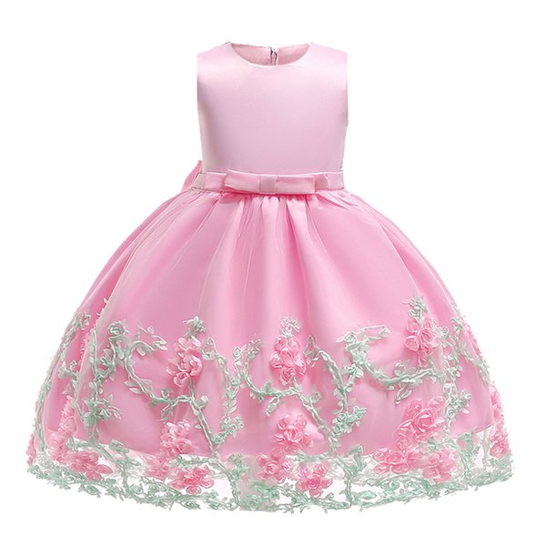 flower girl dress Baby Girls Party Dresses Kids Girl Dress 2018 Princess Gown Flower For Children party wedding Christmas Clothing