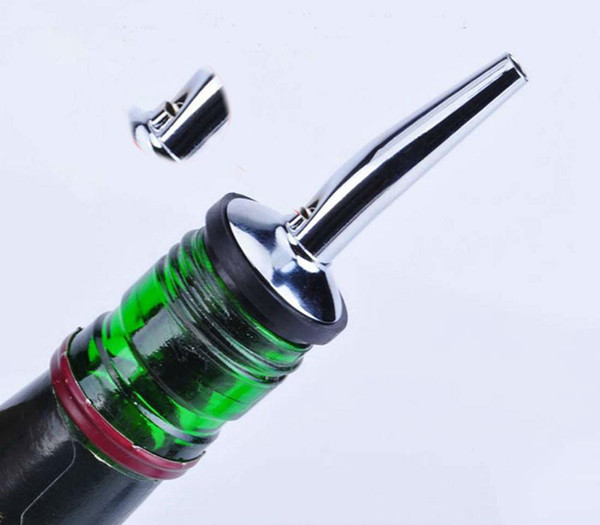 Wine Bottle Pour Spout Stopper Stainless Steel Liquor Spirit Pourer Flow Wine Bottle Pour Spout Stopper Barware Bar Tools Party Supplies