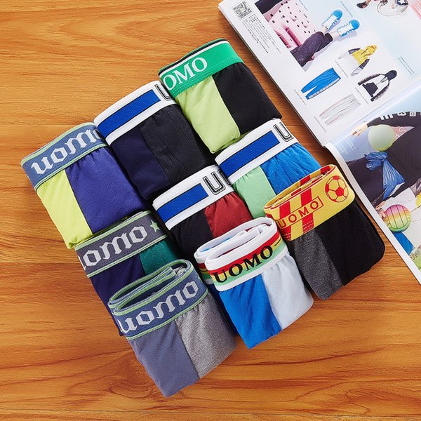 Fashion Boys Underwear Men's Underwear Underpants Boxer Shorts Sports Cotton Mens Boxers Casual Short Pants Underwears Free Shipping 969