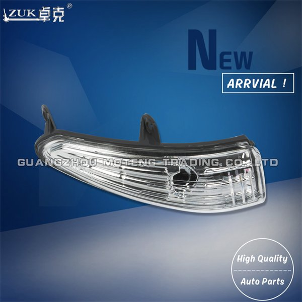 best selling ZUK Rearview Turn Signal Light Side Mirror Lamp Repeater Blinker Housing For Peugeot 308 2008 2010 2011 2012 2013 Without Bulbs