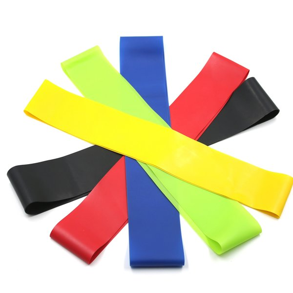 5PCS/set Rubber Resistance Loop Bands Set Fitness Workout Elastic Training Band for Yoga Pilates Crossfit Exercise Stretch Bands