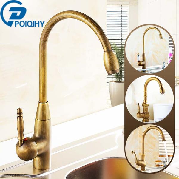 Home Living Accessories Antique Brass Kitchen Sink Faucet 360 Swivel Bathroom Basin Sink Mixer Tap Single Handle