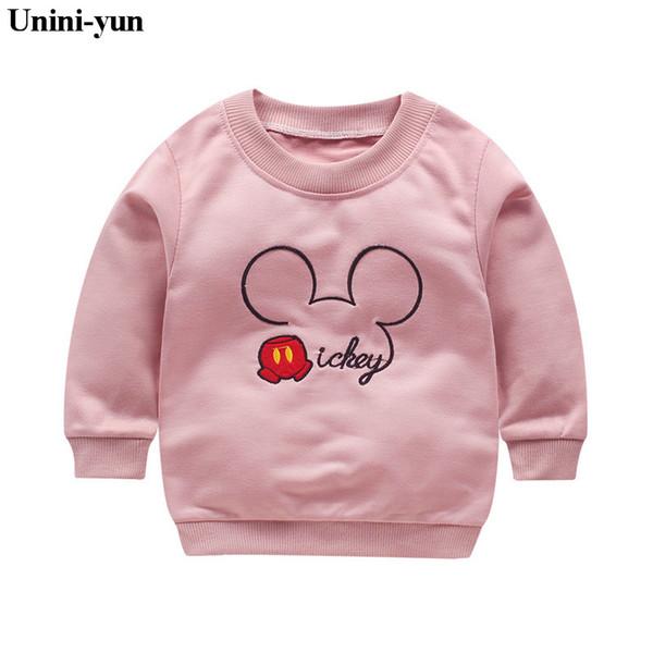 2018 recién llegado de bebés niñas sudaderas primavera otoño suéter de dibujos animados rosa sMinckys manga larga camiseta carácter niños ropa