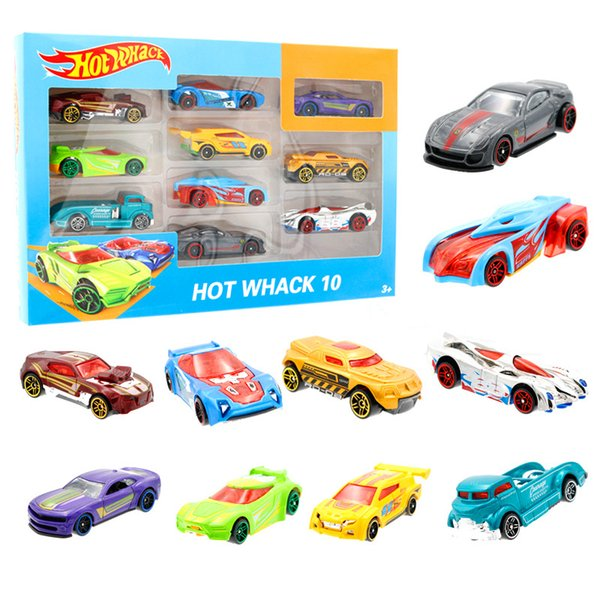 10 pcs/Box Alloy small sports car, small spicy car, 10 color boxes, railcars, mini alloy models, toys and gifts wholesale Toy car