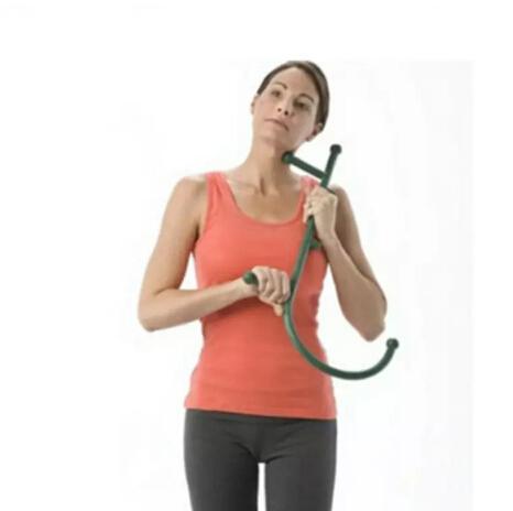 top popular Cane Back Hook Massager Neck Self Muscle Pressure Stick Tool Manuel Trigger Point Original Point Massage Rod 2021