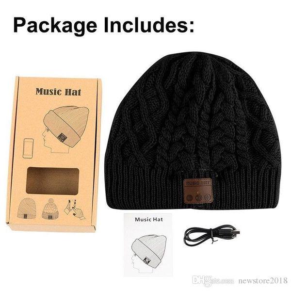 Warm Soft Beanie Wireless Bluetooth Hat Cap Headset Headphone Speaker Mic Stero Voice e151
