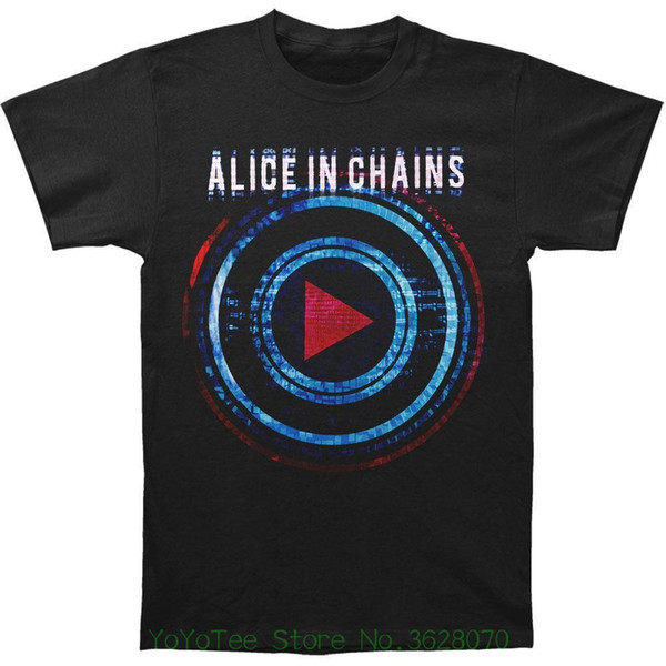 Good Quality Brand Cotton Shirt Summer Style Cool Shirts Alice In Chains Men' ; S Played T-shirt Black