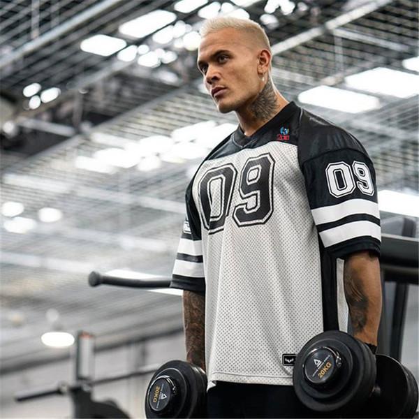 Gym Shirt Men Sport Running Short Sleeve Top Sports Men Soccers Jerseys Shirt Fitness Loose Bodybuildig Breathable Jogger Tshirt