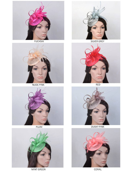 best selling New design fashion Sinamay Hat wedding fascinator with feather flowers for wedding,party,church and Kentucky Derby