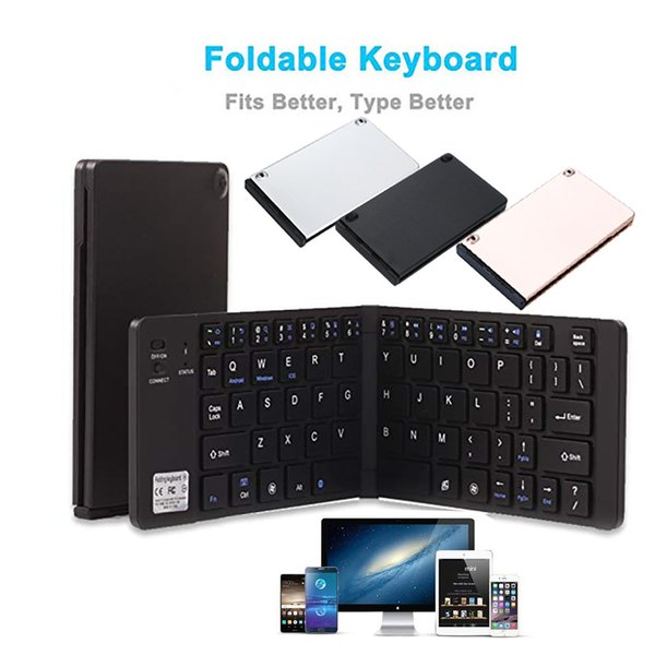 Conception simple et fonctionnelle Portable Ultra Slim Wireless Bluetooth Clavier Pliable Longue durée de vie Pour IOS # 88