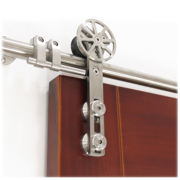 best selling DIYHD stainless steel sliding barn wood closet door barn glass door sliding hardware with decoration movable core