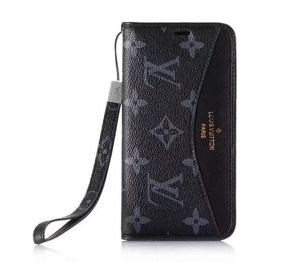 Cep telefonu cüzdan kılıf iphone 8 artı kart yuvası ile kordon koruma kabuk kapak