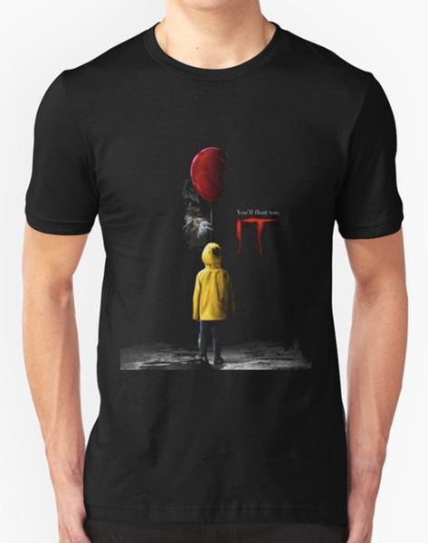 IT MOVIE T SHIRT HORROR FILM FILM Tees Brand Abbigliamento Divertente T-Shirt top tee T shirt Uomo Nero Manica corta in cotone Tee Shirts