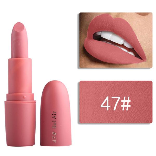 Miss Rose nude lipstick 18 colors waterproof Vampire Brown Beauty Red Baby Lips Batom matte lipstick Makeup MS058