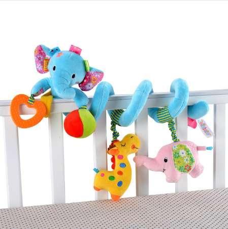 Juguetes de cochecito de bebé recién nacido precioso elefante león modelo cama de bebé juguetes colgantes educativos bebé sonajero juguetes