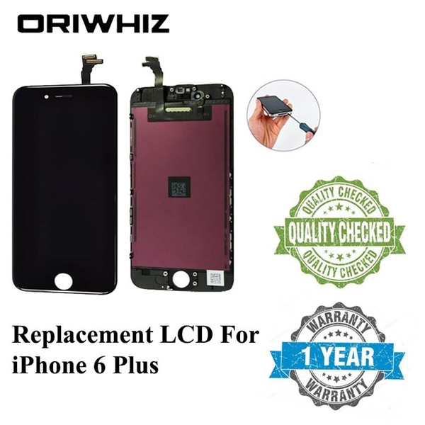 ORIWHIZ Bulk Price Quality For iPhone 6 Plus LCD Display Touch Screen Digitizer Assembly No Dead Pixel Black & White color Free DHL
