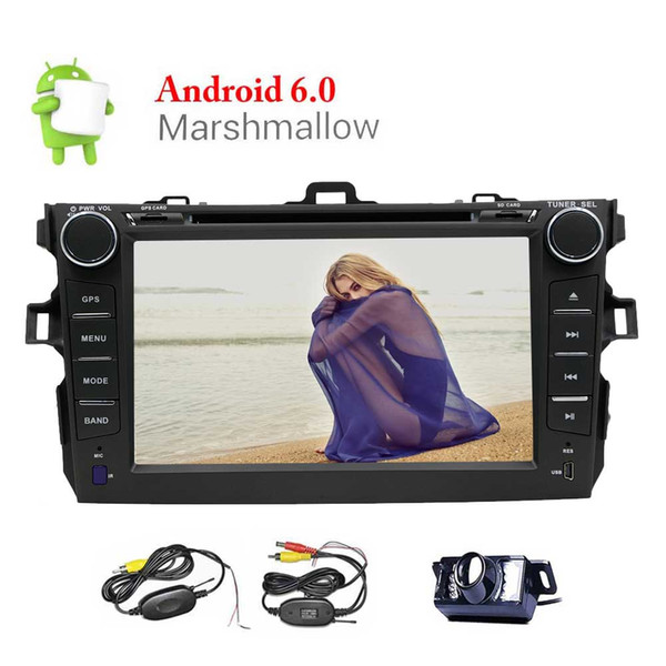 Quad Core Android 6.0 Car DVD Player 7'' Touchscreen for Toyata Corolla Double Din GPS Navigation Headunit Bluetooth/WiFi/AM/FM Radio