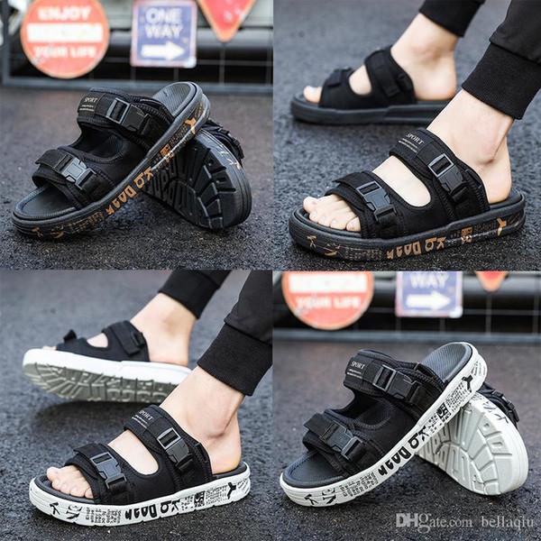Tasarımcı Terlik derlemek Terlik Yaz erkek ayakkabı gevşek oturan erkekler için terlikler plaj terlik kauçuk terlik açık sandalet