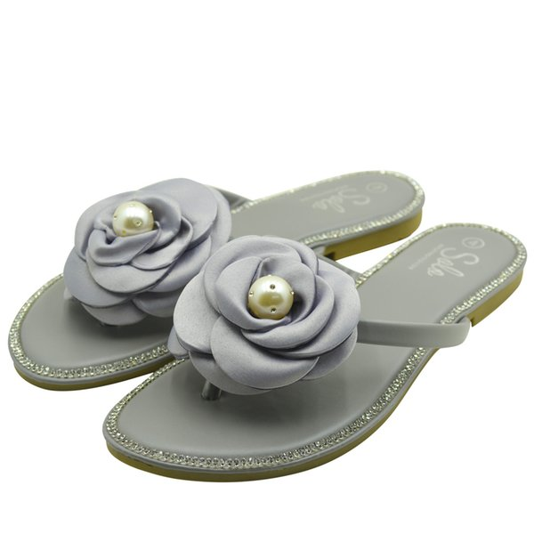 Customized five colors women casual flat shoes fashion TPR beach lady slippers home slippers manufacturer made in China